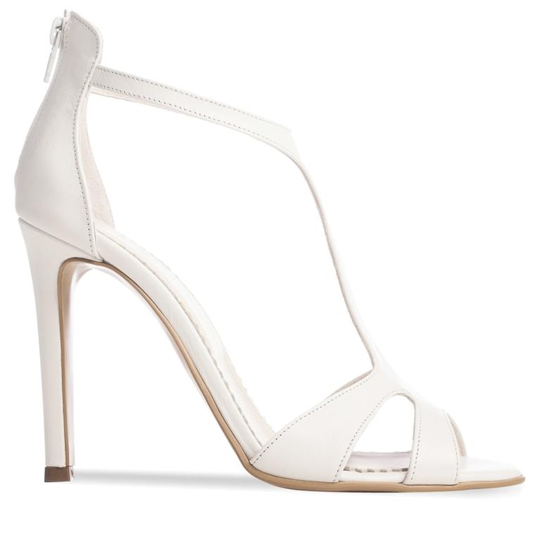 White bridal sandals Chandelier
